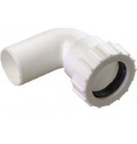 Plastic Compression 15mm Swivel Elbow