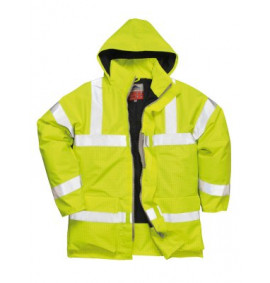Portwest Bizflame Rain Hi-Vis Anti Static FR Jacket