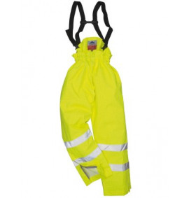 Portwest Bizflame Rain Lined Hi-Vis Anti Static FR Trouser