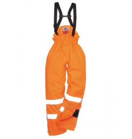 Portwest Bizflame Rain Unlined Hi-Vis Anti Static FR Trouser