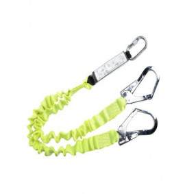 Portwest Double Lanyard Elasticated With Shock Absorber