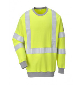 Portwest Flame Resistant Anti-Static Hi-Vis Sweatshirt