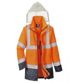 Portwest Hi-Vis 4-in-1 Contrast Traffic Jacket