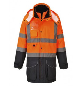 Portwest Hi-Vis 7-in-1 Contrast Traffic Jacket