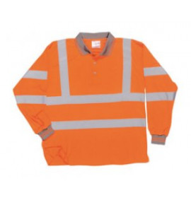 Portwest Hi-Vis Long Sleeved Polo Shirt