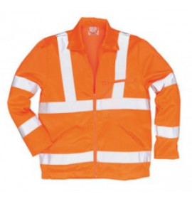 Portwest Hi-Vis Poly-cotton Jacket, GO/RT