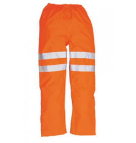 Portwest Hi-Vis Traffic Trousers, GO/RT