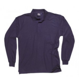 Portwest Long Sleeved Polo Shirt (Navy)