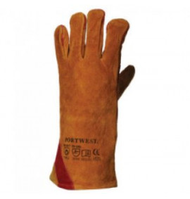 Portwest Reinforced Welding Gauntlet (Brown)