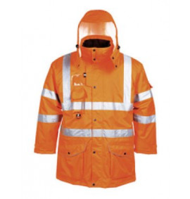 Portwest  Hi-Vis 7 in 1 Traffic Jacket, GO/RT