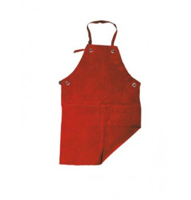 Red Apron with Buckle and Ties