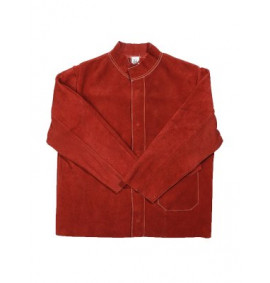 Red Leather Welders Jacket