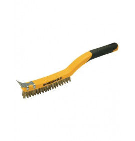 Roughneck Wire Brush Soft Grip