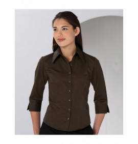 Russell Collection Ladies 3/4 Sleeve Tencel Fitted Shirt