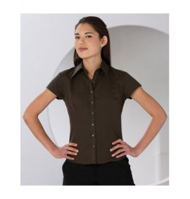 Russell Collection Ladies Cap Sleeve Tencel Fitted Shirt