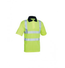 Scan Hi-Vis Yellow Polo Shirt