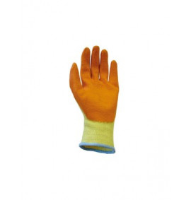 Scan Knit Shell Latex Palm Gloves Orange Pack of 12