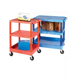 Service Trolleys with Coloured Legs & Shelves