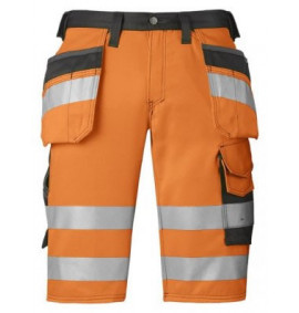 Snickers 3033 High-Vis Holster Pocket Shorts, Class 1