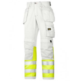Snickers 3234 Painters High-Vis Trousers, Class 1