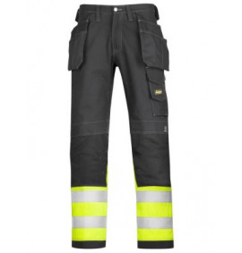 Snickers 3235 High-Vis Holster Pocket Cotton Trousers, Class 1