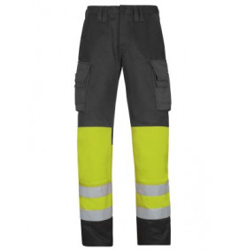 Snickers 3833 High-Vis Trousers, Class 1