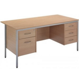 Standard Workstation, Double Pedestal Desk