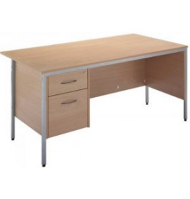 Standard Workstation, Single Pedestal Desk (2 Drawer)