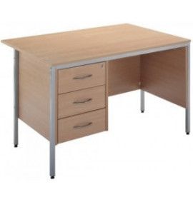 Standard Workstation, Single Pedestal Desk (3 Drawer)