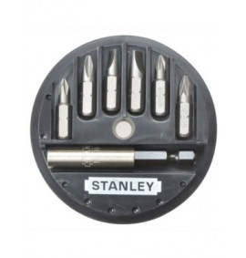 Stanley Insert Bit Set Phillips/Slotted/Pozidriv 7 Piece