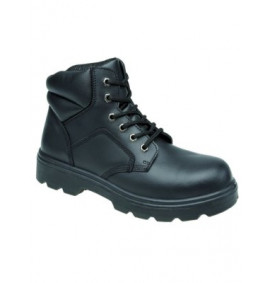 Toesavers Black 6 Eyelet Safety Boot