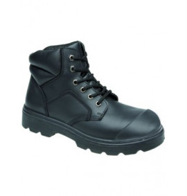 Toesavers Black 6 Eyelet Scuff Cap Safety Boot