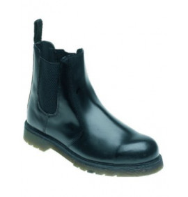Toesavers Black Leather Safety Dealer Boot