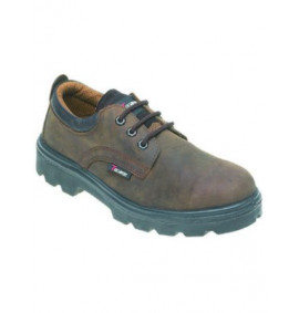 Toesavers Brown Leather 3 Eyelet Safety Shoe