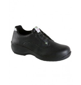 Toesavers Ladies Black Microfibre Lace Safety Shoe