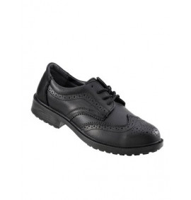 Pro Man Brooklyn Black  Brogue Styled Safety Shoe