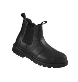 Pro Man Oregon Black Chelsea Styled Safety Boot