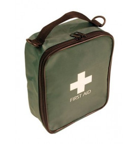 Travel First Aid Kit - Green Bag (BS 8599-1 Compliant)