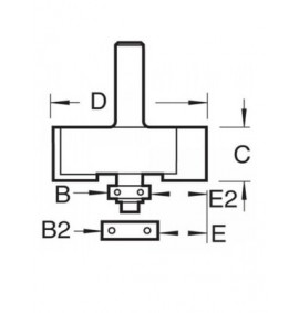 Trend C040 x 1/4 TCT Bearing Guided Rebater 35.0mm
