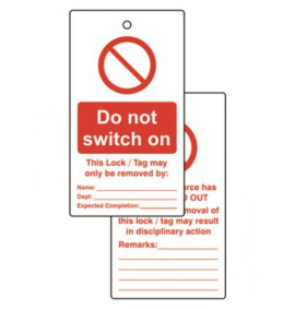 Various Lockout Tags (Packs of 50)