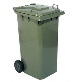 Wheel Dustbin Green