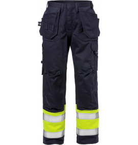 Fristads Flame High Vis Craftsman Trousers CL 1 2586 FLAM