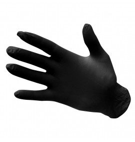 Portwest Powder Free Nitrile Disposable Gloves (Black)