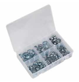 O-Clip Double Ear Assortment 140pc Zinc Plated