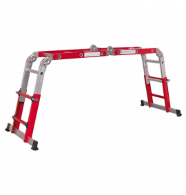 Aluminium Multipurpose Ladder EN 131 Adjustable Height