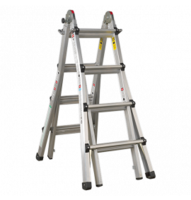 Aluminium Telescopic Ladder 4-Way EN 131 Adjustable Height