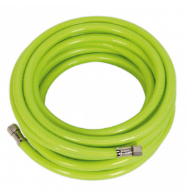 "Air Hose High Visibility 10m with 1/4""BSP Unions"
