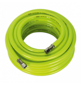 "Air Hose High Visibility 15m with 1/4""BSP Unions"