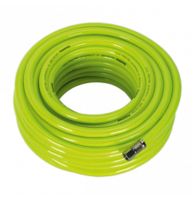 """Air Hose High Visibility 20m with 1/4""""BSP Unions"""