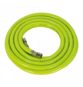 "Air Hose High Visibility 5m with 1/4""BSP Unions"